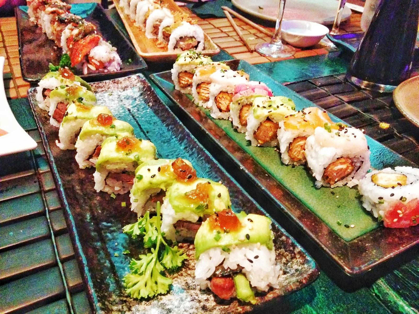 Sushi vegetariano ikibana