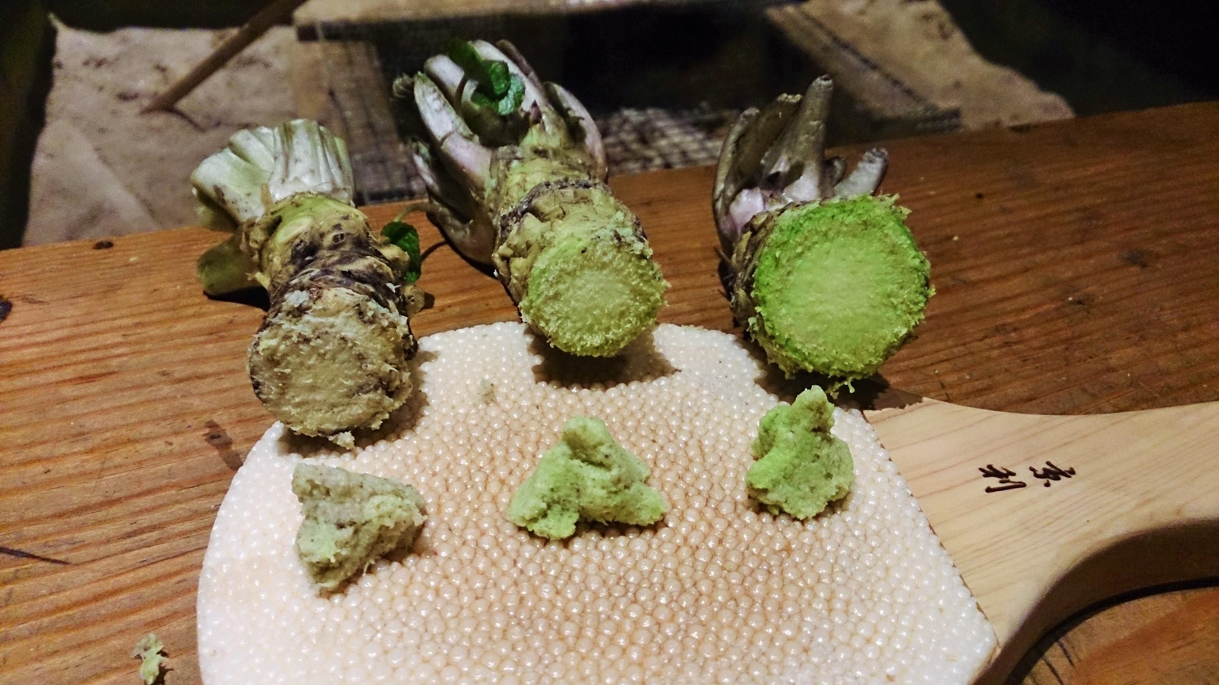 verduras asiáticas wasabi