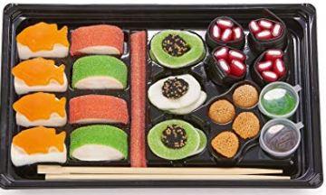 Regalar bandeja de sushi de golosinas