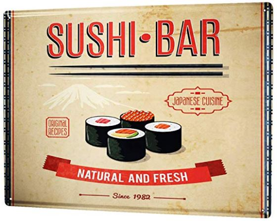 Regalar cartel sushi bar
