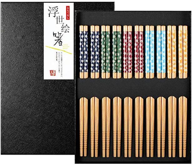 Regalar estuche con palillos para sushi