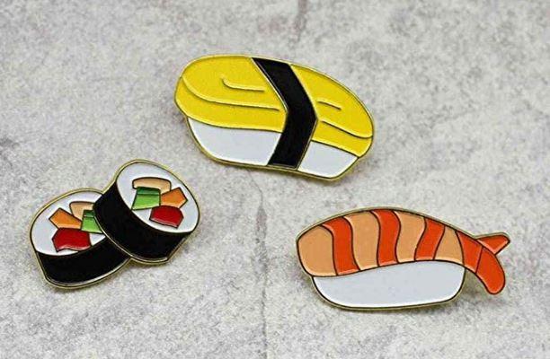 Regalar pin de sushi