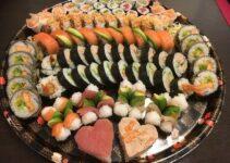 Piezas de sushi por persona
