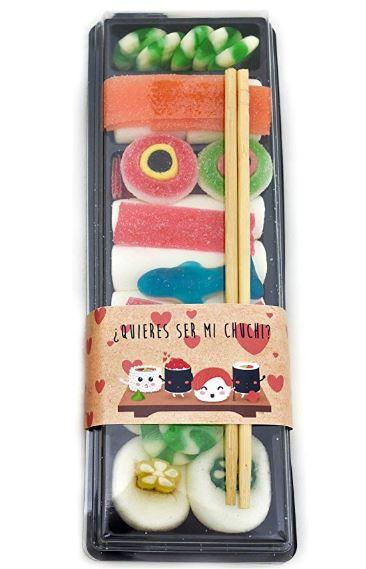 Sushi de chuches para enamorados