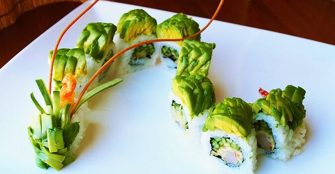 Dragon Roll sushi