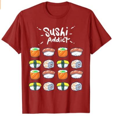 Camiset sushi adict
