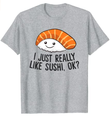 Camiseta amante del sushi