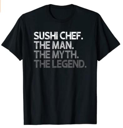 Camiseta sushi chef