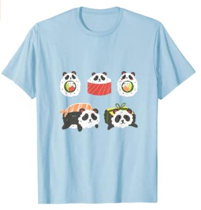 Camiseta sushi panda