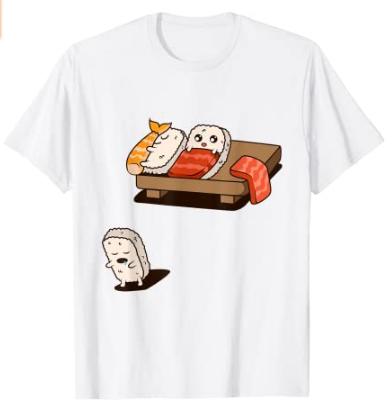 Camiseta sushi sonámbulo